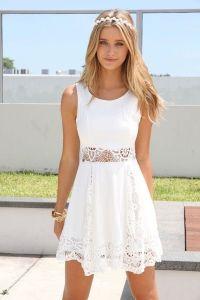 White dress  summer fashion must have | White summer ...