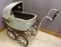 Vintage Wicker Carriage Baby Doll Buggy, Stroller Pram ...