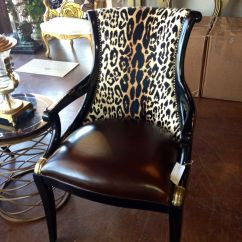 Tiger Print Dining Chairs How Much To Rent A Barber Chair Brittnay Blake Interiors Houston Animal Leather