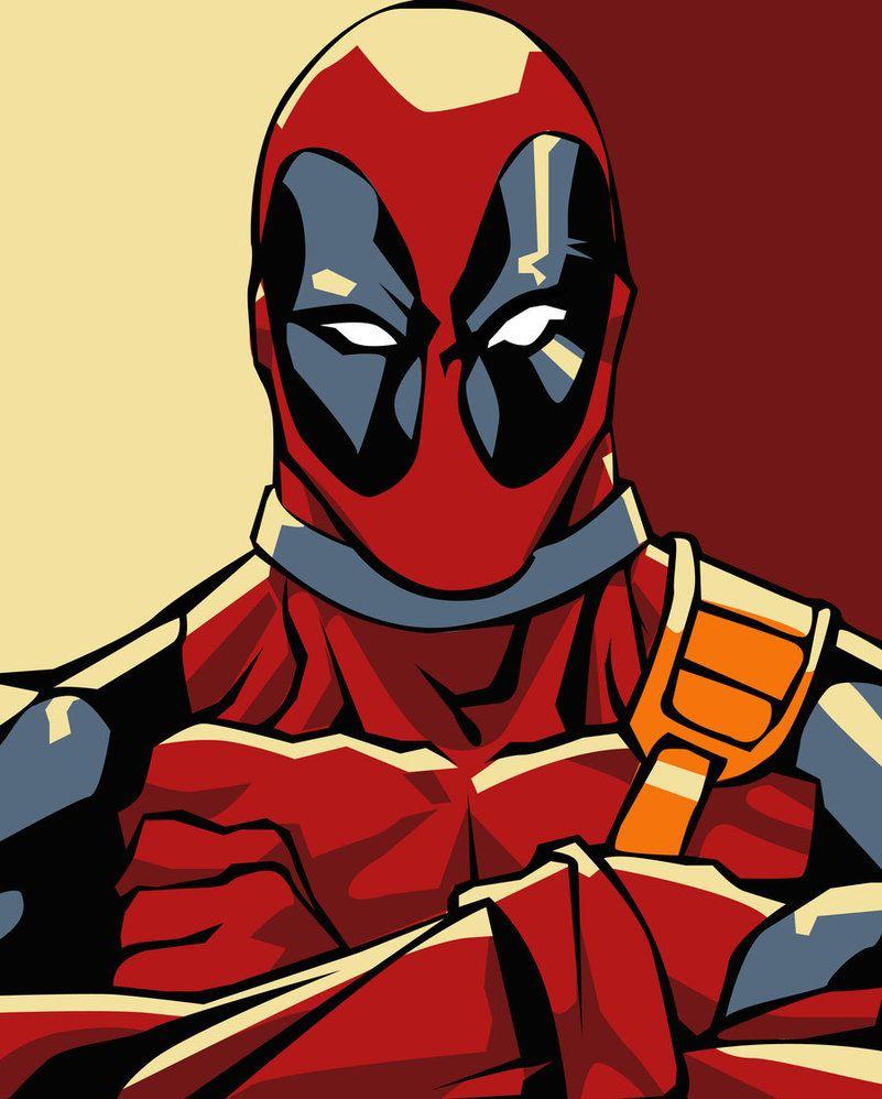Deadpool And Superhero Man Drawings Spider