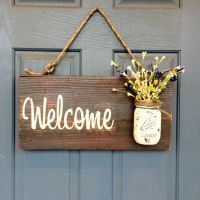 Mason Jar Welcome Sign - Distressed Welcome Sign ...