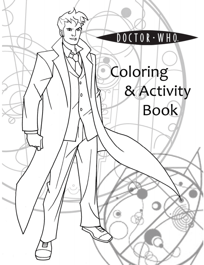 doctor who coloring pages. totally worth the ink.  doctor