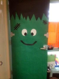 Frankenstein door decoration | Things I've Made :) - By ...