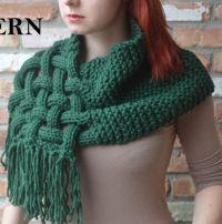Knitting Pattern for Celtic Woven Scarf | Wishlist ...