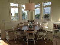 Breakfast nook--square booth, round table | Kitchen ...