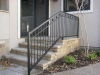 wrod irion deck rail | ... commercial handrails iron ...