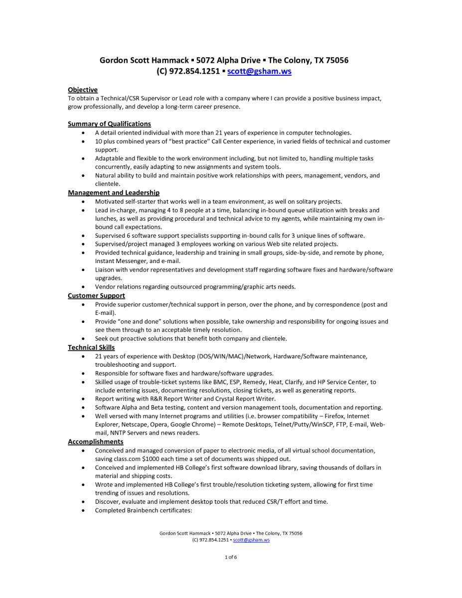 resume self employed sample