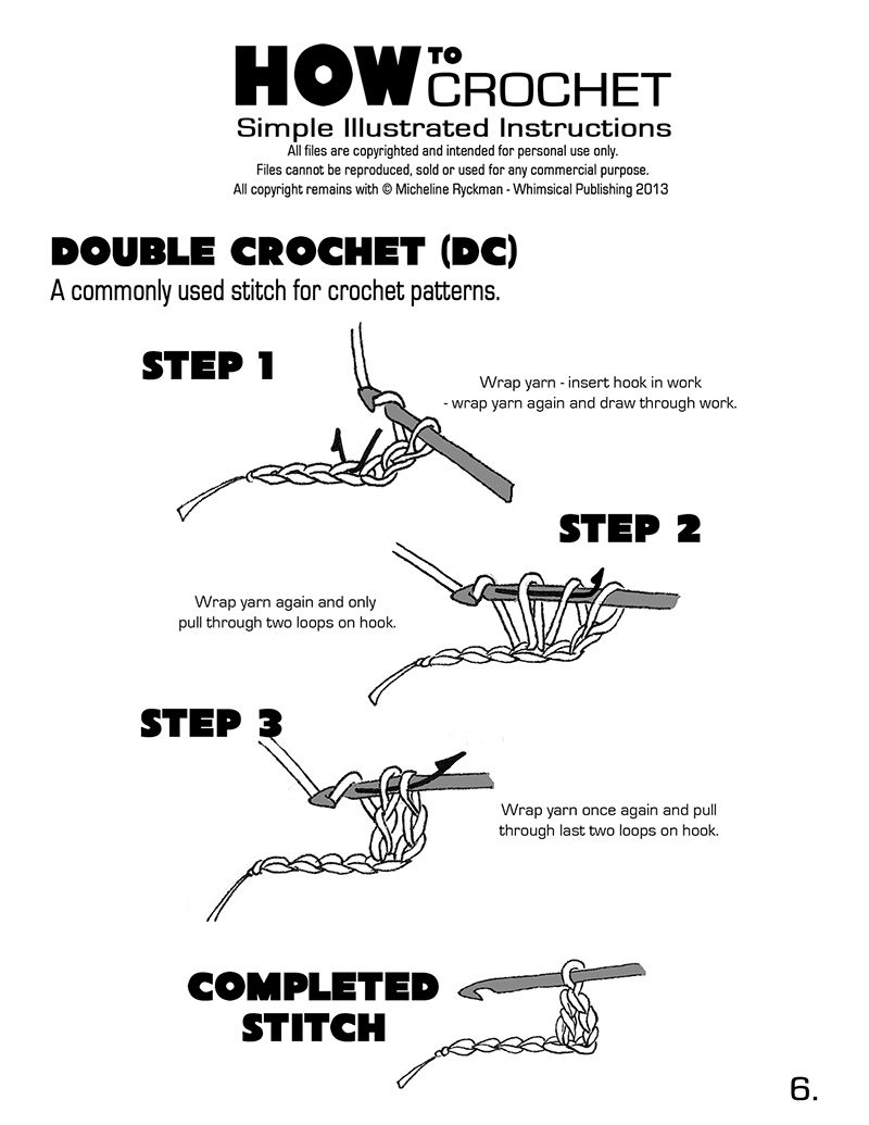 Learn how to crochet with these simple step by step