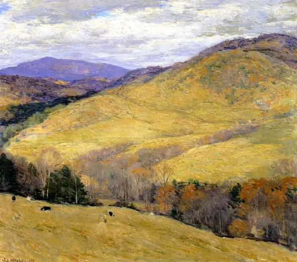 """vermont Hills November "" Willard Leroy Metcalf Ca. 1923"