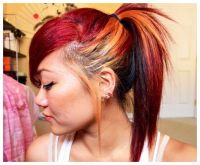 Wild Hair Color Ideas for Dark Hair   blonde and red hair ...