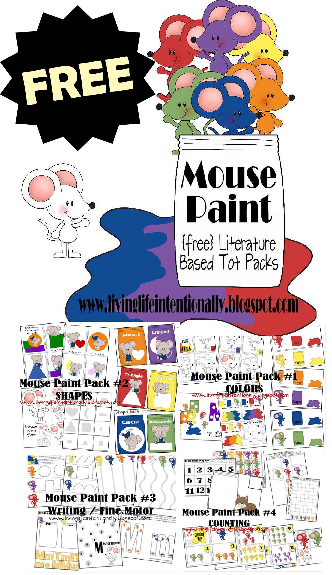 Free Mouse Paint Worksheets For Kids