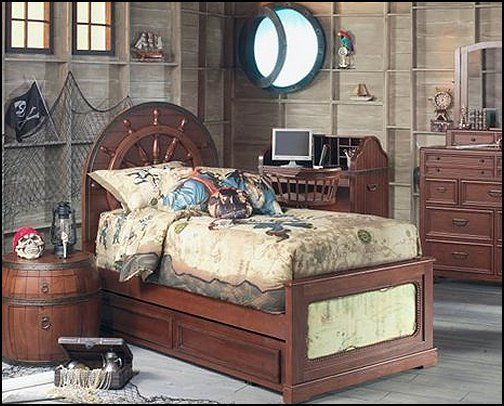 Pirate Theme Bedrooms Decorating ideas and Pirate Themed