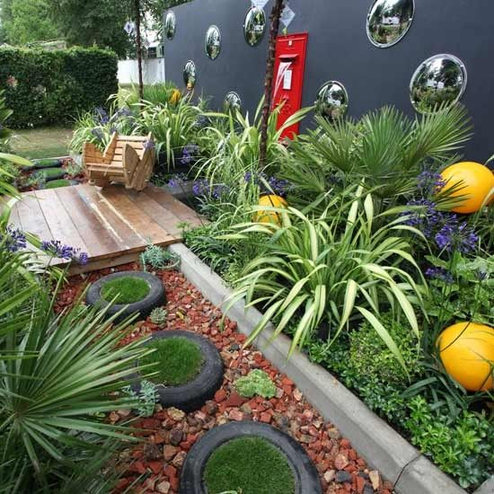 Easy Garden Transformations Gardens Grey Walls And Flower