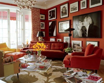 Decor in red bold  beautiful also apartments walls and gallery wall rh pinterest