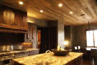 Rustic, Distressed, Wood Plank Ceiling
