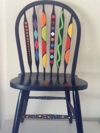 funky painted dining chairs | Painted chair dark grey op ...