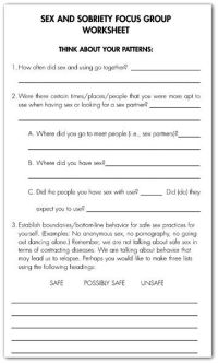 Image result for free worksheets for recovery relapse ...