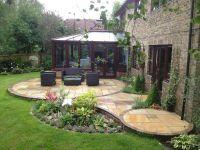 Circular Garden Plans | circular Indian stone patio design ...