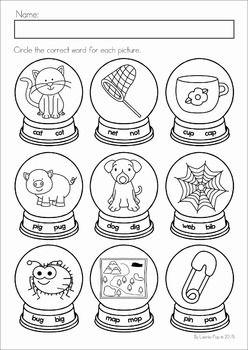 Winter Preschool No Prep Worksheets & Activities