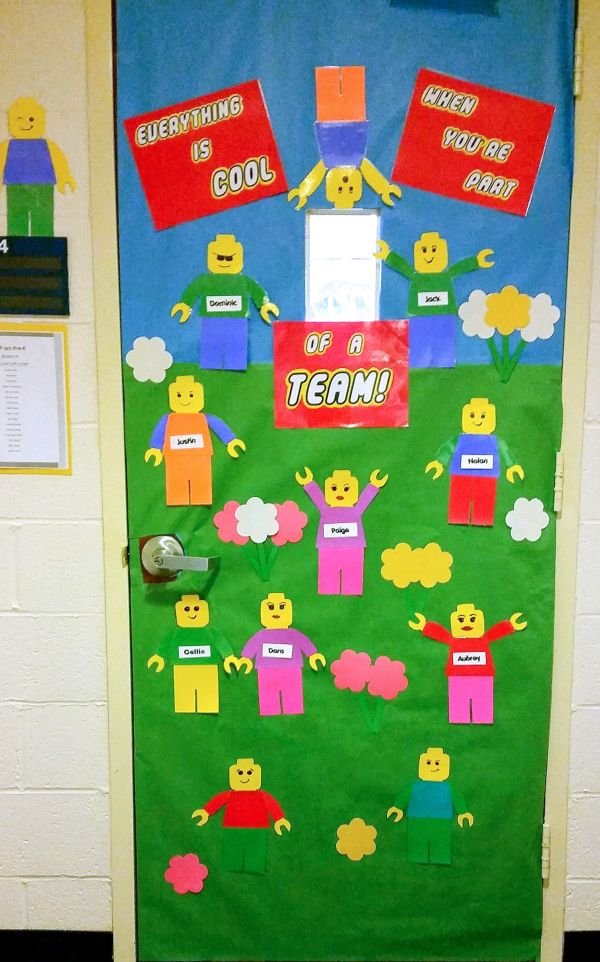 Lego Bulletin Board. Door. School