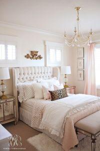 Bedroom, Rose Gold Bedroom Set Brown Comforter Pinky Teddy ...