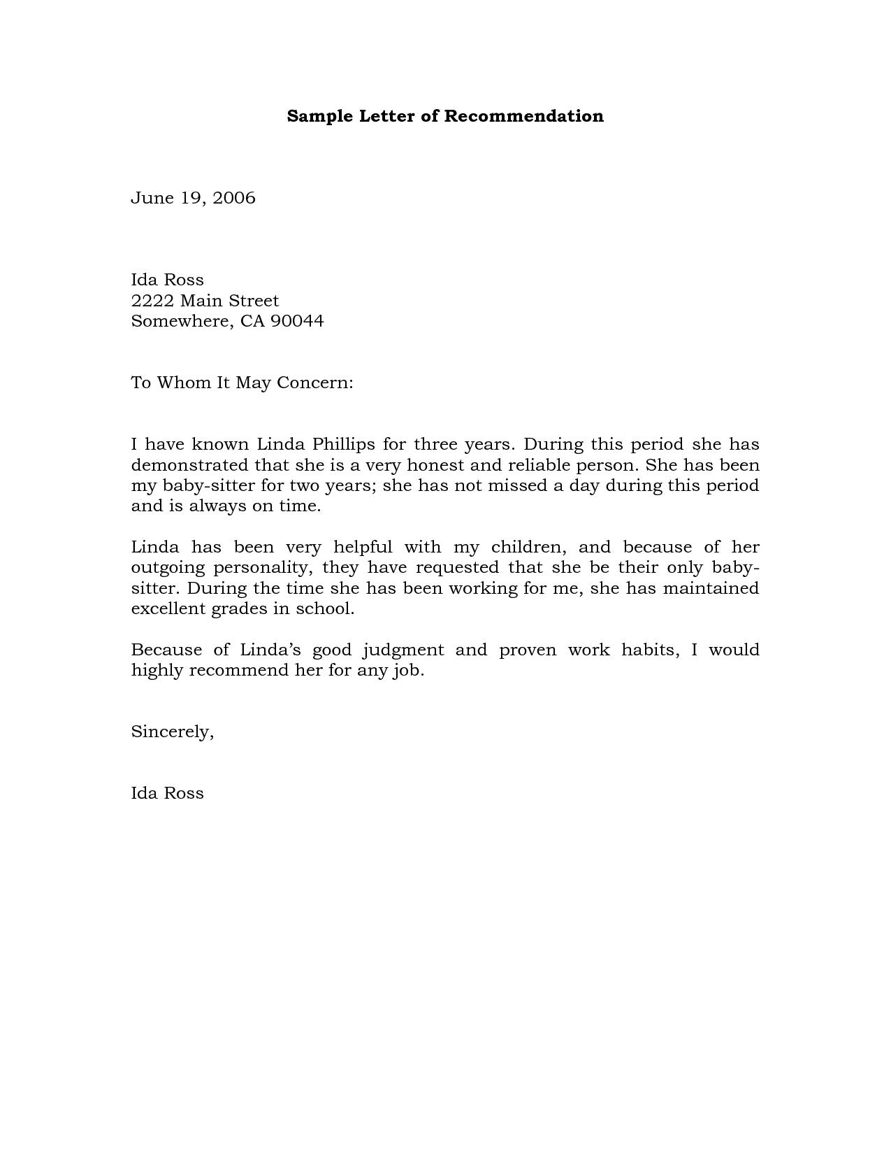 recommendation letter sample for nurse employee customer service recommendation letter sample for nurse employee sample nursing letter of recommendation letter sample letter sample referral