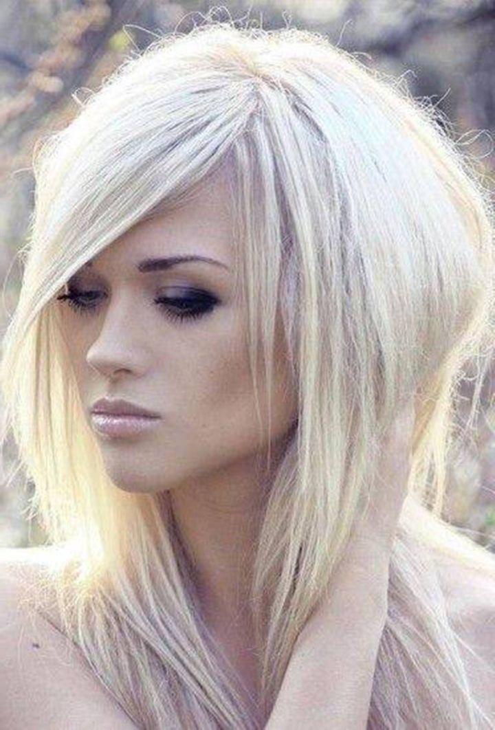 Blonde Long Shag Hairstyles [ Waterbabiesbikini ] beauty