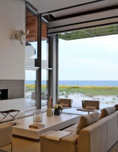 Beach house on long island style living room new york west chin architects  interior designers also sustainable and playful two storey near the atlantic rh za pinterest