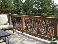 Composite Deck Railing with Wood View rustic wood railing ...
