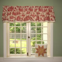 Red Valances For Kitchen Windows Rental Cranberry Toile Waverly Valance Www