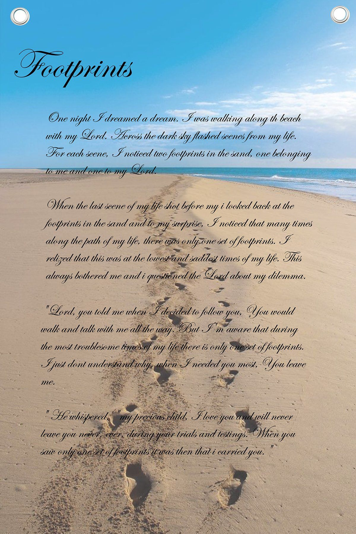 photograph about Poem Footprints in the Sand Printable called Black And White Footprints Inside of The Sand Poem - Investigating Mars
