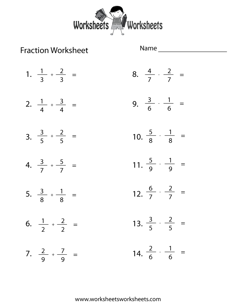 Fraction Addition Subtraction Multiplication Ision Rules