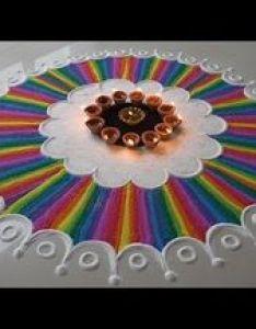 Creative and unique multicolored rangoli for diwali also beautiful very different design youtube rh pinterest