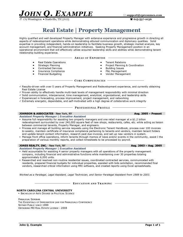 Property Manager Resume Sample Resumesdesign Com Property