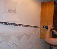 Metal edge for tile table | Good Ideas | Pinterest | Tile ...