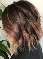 fall-winter lob hair color