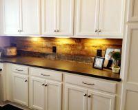 barn wood backsplash in walk-in pantry | Kitchen ...