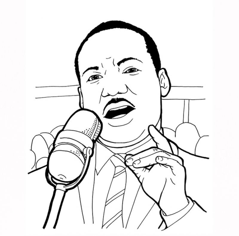 American Legend Martin Luther King Jr. coloring pages