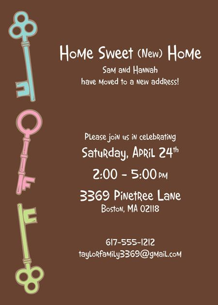 Housewarming Party Invitation PARTY Monster Pinterest