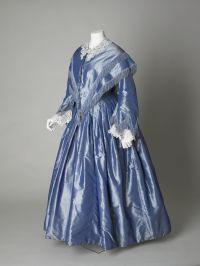 Bridesmaids dress and matching pelerine, silk taffeta ...