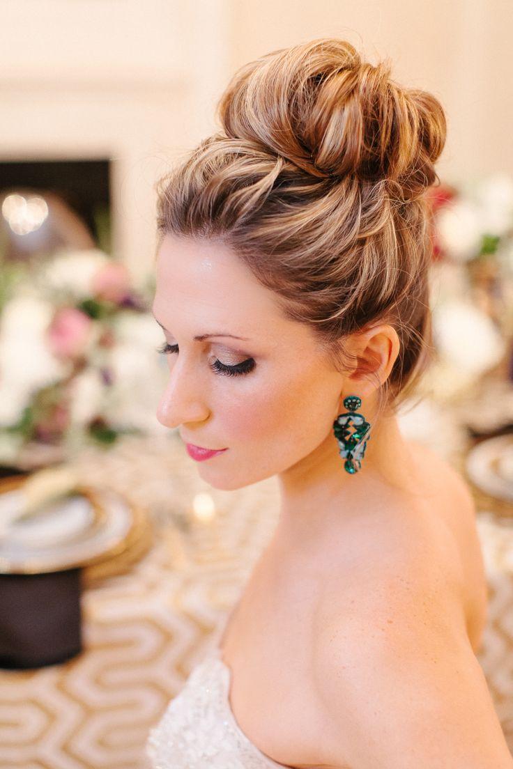 15 New Stunning Wedding Hairstyle Inspiration Updo High Bun