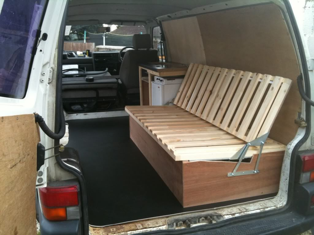 van sofa bed seat plum set self made wooden beds pics please page 2 vw t4