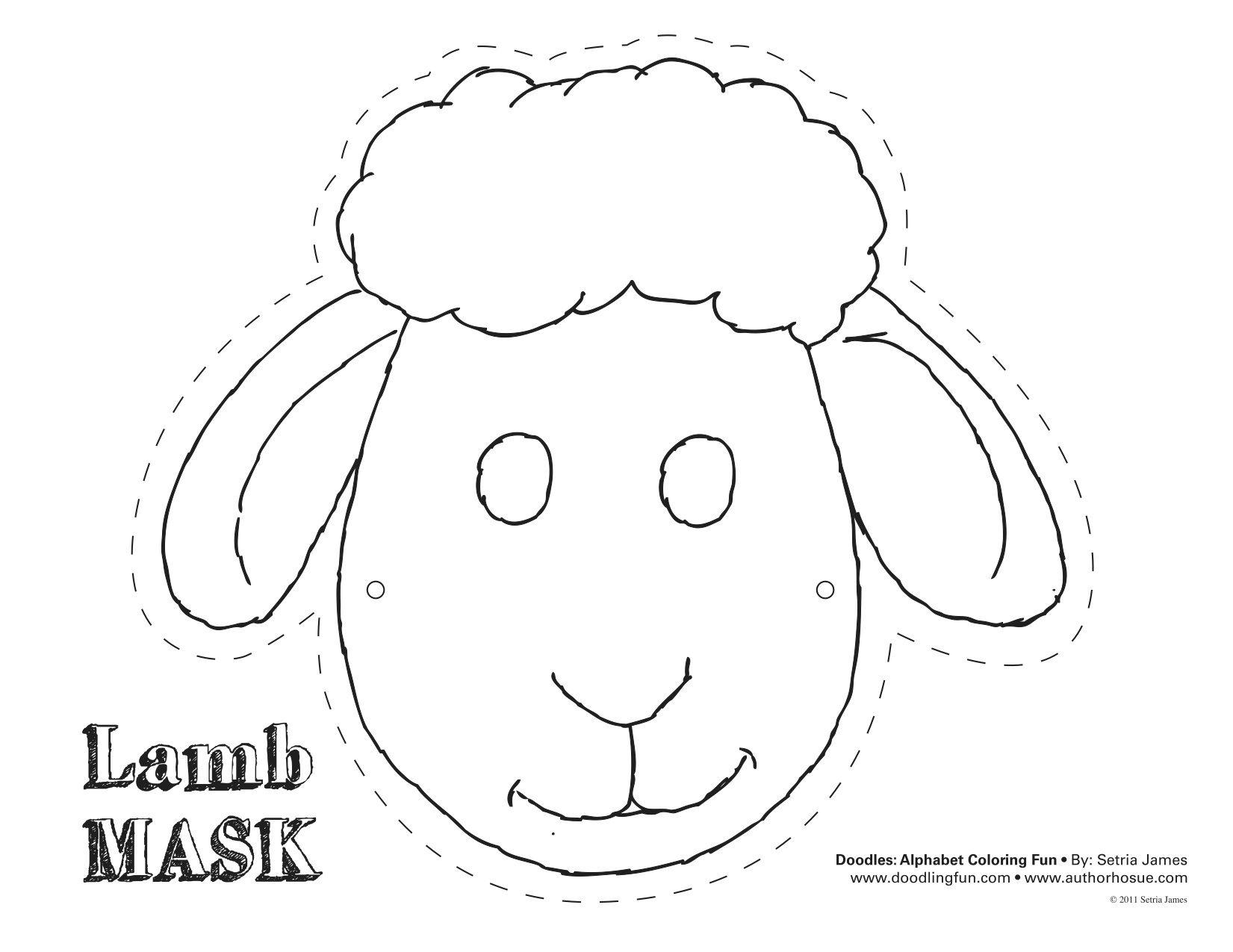 Lamb Mask! #theatrics #kiddos #play #craft #coloring