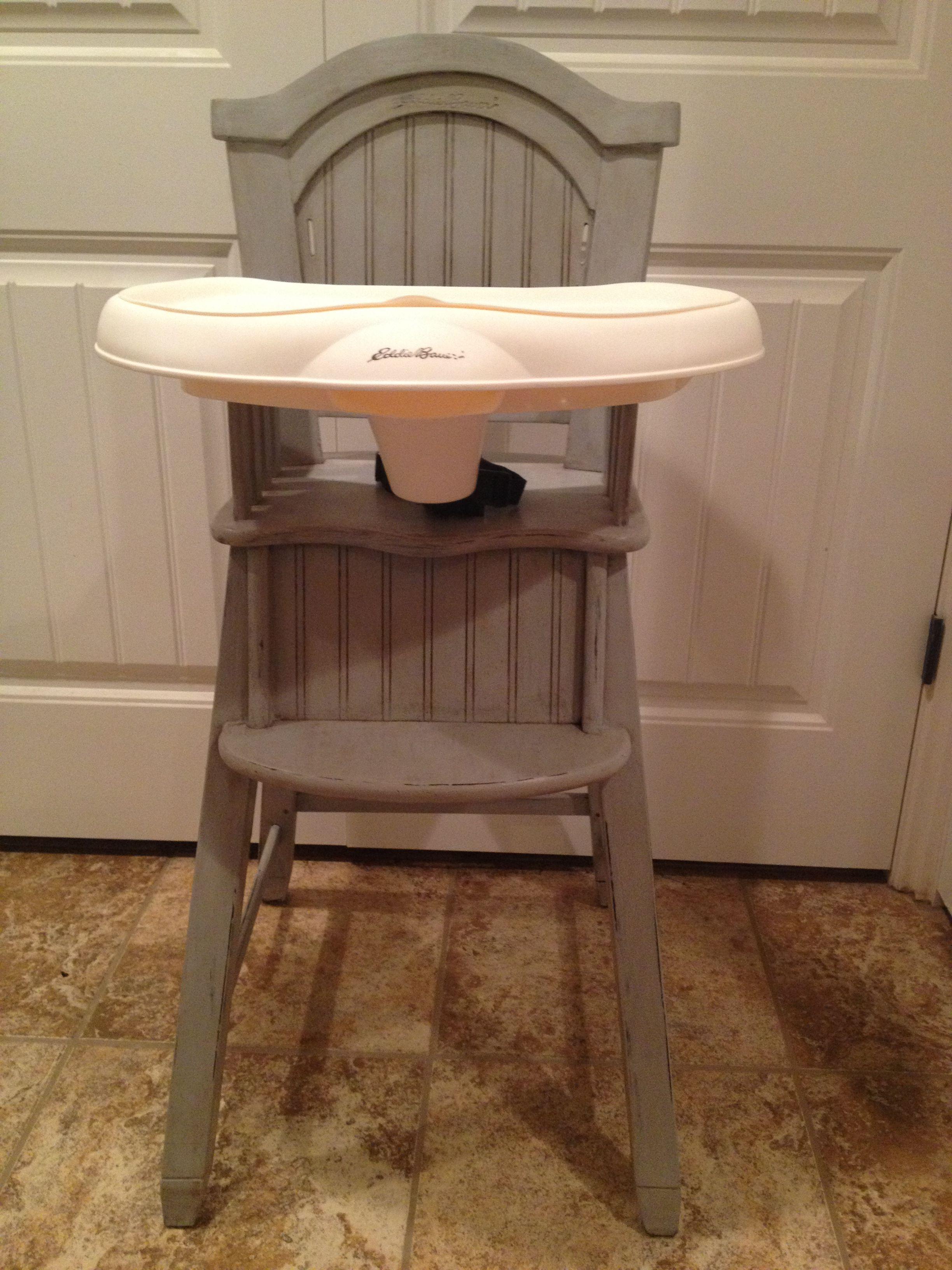 high chairs that attach to table writing desk with chair shabby chic eddie bauer paris grey annie sloan