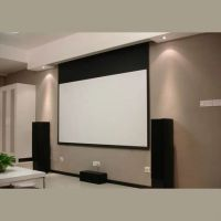 Hidden In Ceiling Electric Projection Screen With Remote ...