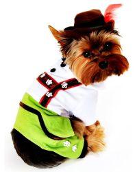 German Shepherd Schnauzer Lederhosen Dog Costume | Funny ...