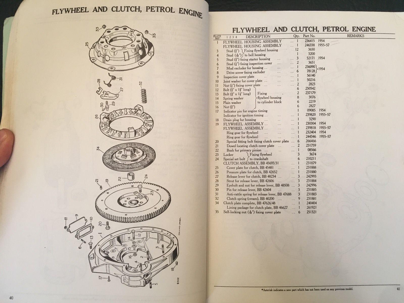 Original Land Rover 86 88 107 109 Series 1 Parts Manual 1954 57
