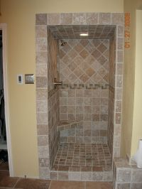 Travertine Tile Shower | Tile / Travertine contractor ...