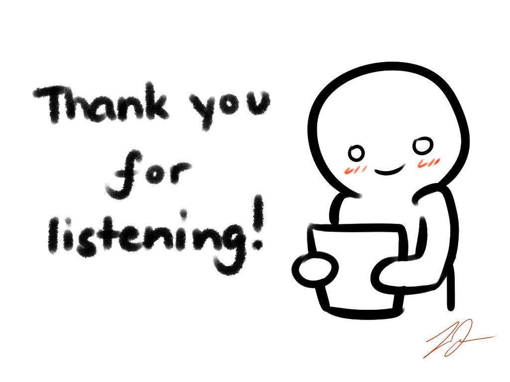 'Thank you for listening' card by LyraEri.deviantart.com