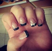 ideas of french manicure midnight